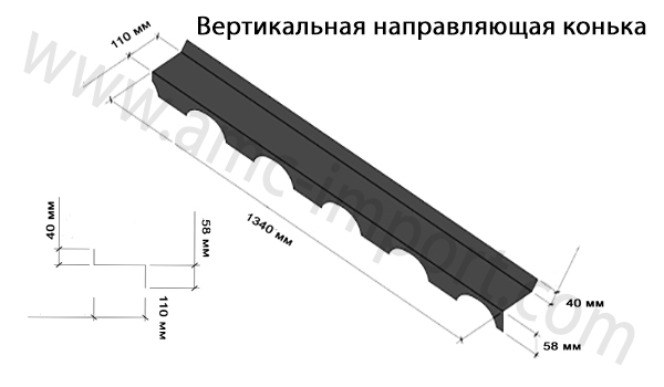 Вертикальная направляющая